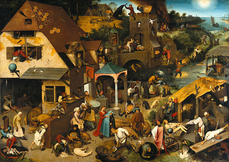 800px-Pieter Bruegel the Elder - The Dutch Proverbs - Google Art Project